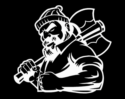 Lumberjack Logo (inverted color) - East TN Outdoor Services
